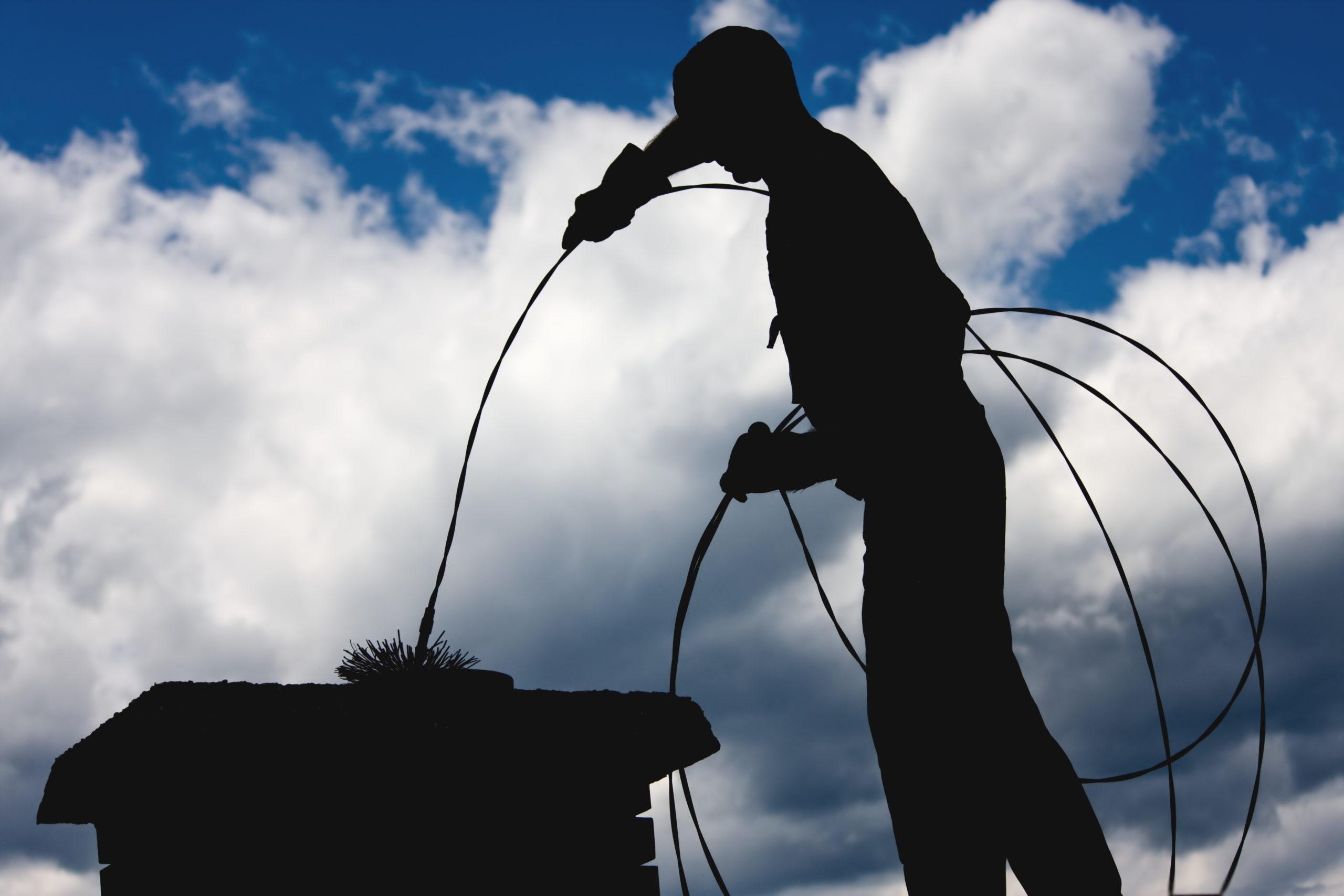 Chimney sweep maintenance